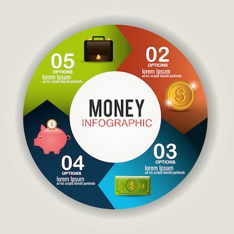 Projeto de dinheiro e negócios.