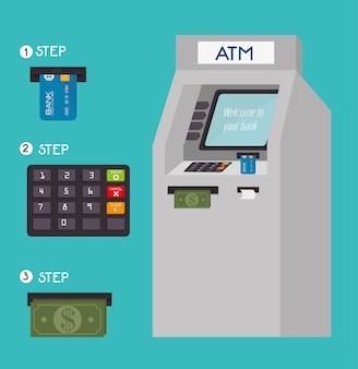 Projeto de dinheiro, ilustração vetorial.