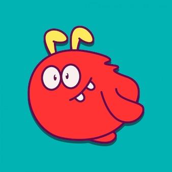 Projeto de doodle de personagem de desenho animado de monstro
