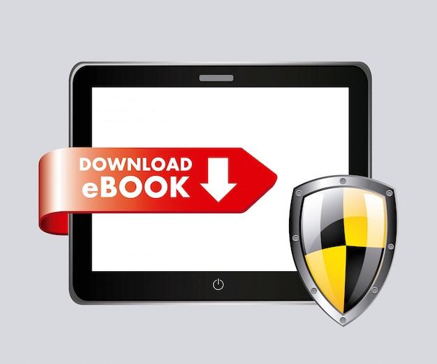 Projeto de ebook sobre ilustração vetorial de fundo cinza