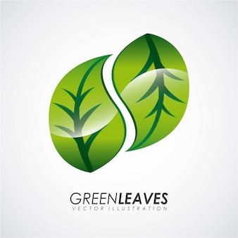 Projeto de ecologia sobre ilustração vetorial de fundo cinza