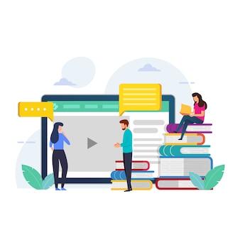 Projeto de educação para o curso on-line