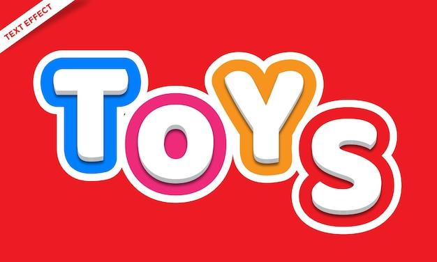 Projeto de efeito de texto colorido de brinquedos