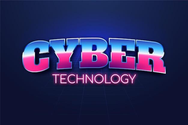 Projeto de efeito de texto de tecnologia cibernética