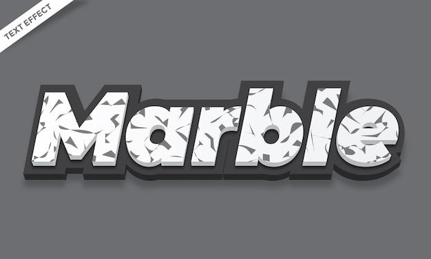 Projeto de efeito de texto de textura de mármore