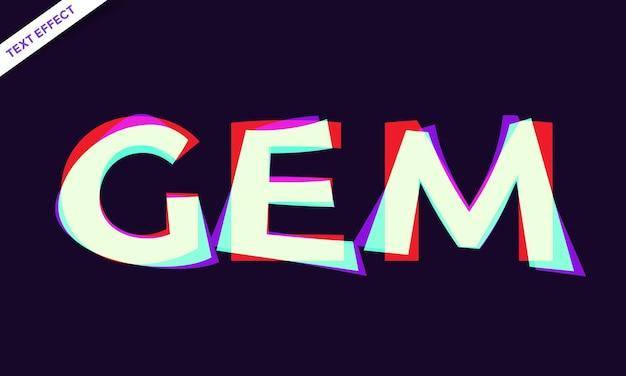 Projeto de efeito de texto gema abstrato