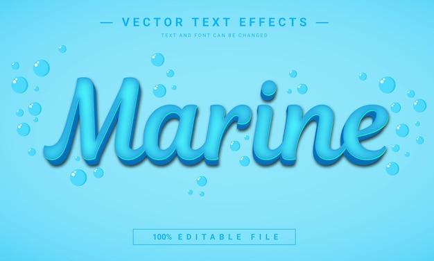 Projeto de efeito de texto marin
