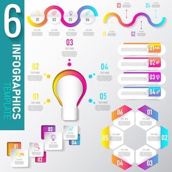Projeto de elementos de coleção de infografia.
