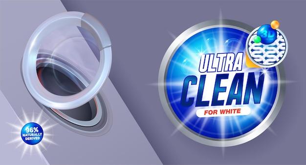 Projeto de embalagem para sabão em pó e detergentes líquidos.