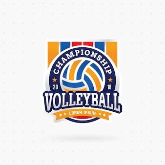 Projeto de emblema de torneio de voleibol