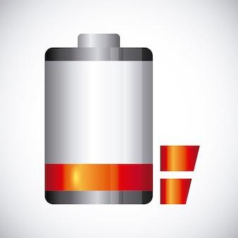 Projeto de energia da bateria, ilustração vetorial eps10 gráfico