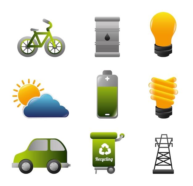 Projeto de energia, ilustração vetorial.