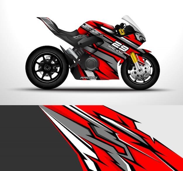 Projeto de envoltório de moto esporte.