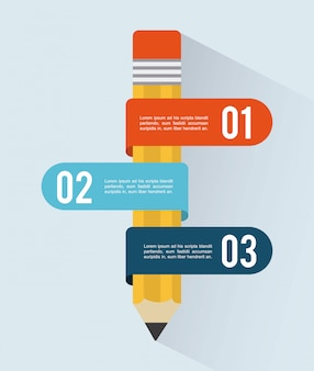 Projeto de escritório sobre ilustração vetorial de fundo azul