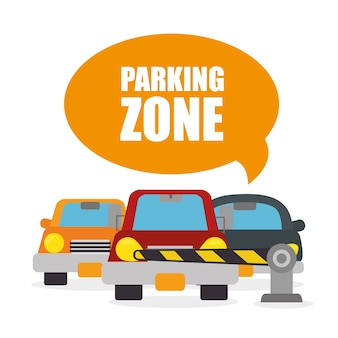 Projeto de estacionamento ou zona de estacionamento