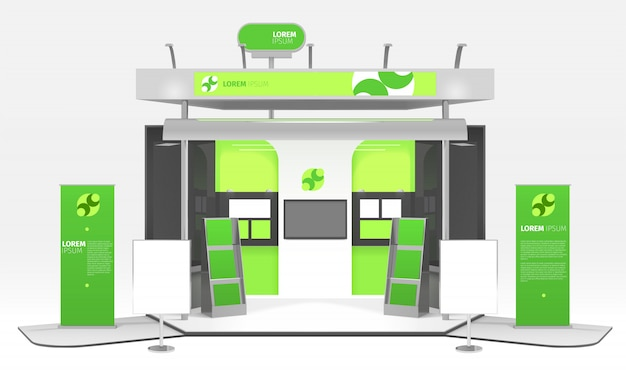 Projeto de estande de exposição de energia verde