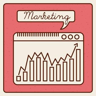 Projeto de estatísticas de marketing, gráfico de vetor ilustração eps10