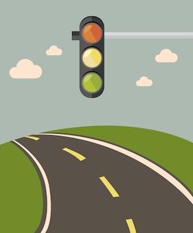 Projeto de estrada, ilustração vetorial.