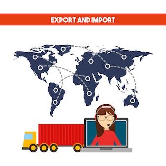 Projeto de exportação e importação