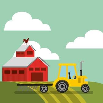 Projeto de fazenda e agricultura