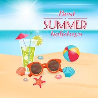 Projeto de férias de verão Vetor Premium