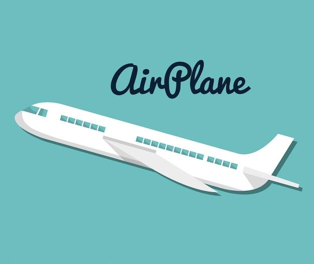 Projeto de férias de viagens de avião de ícone