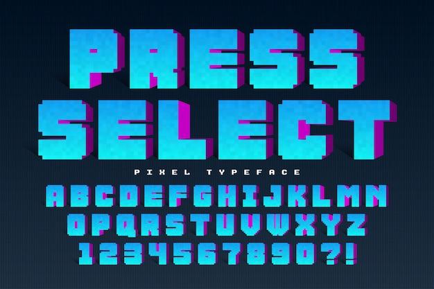 Projeto de fonte de vetor de pixel