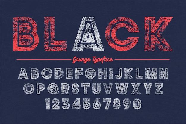 Projeto de fonte em negrito decorativo vetor extra bold (realce), grunge, alfabeto,