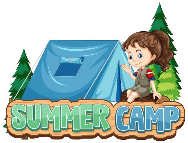 Projeto de fonte para acampamento de verão com gracinha no parque