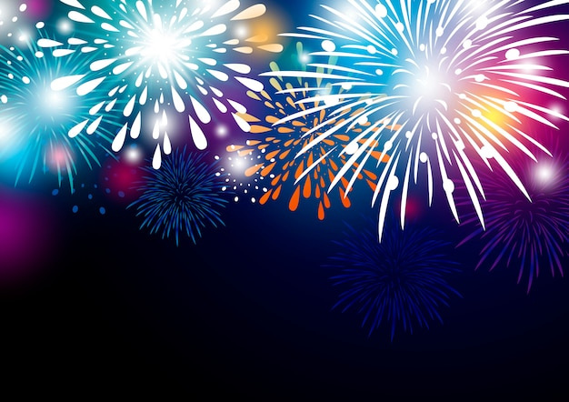 Projeto de fundo abstrato colorido fogos de artifício
