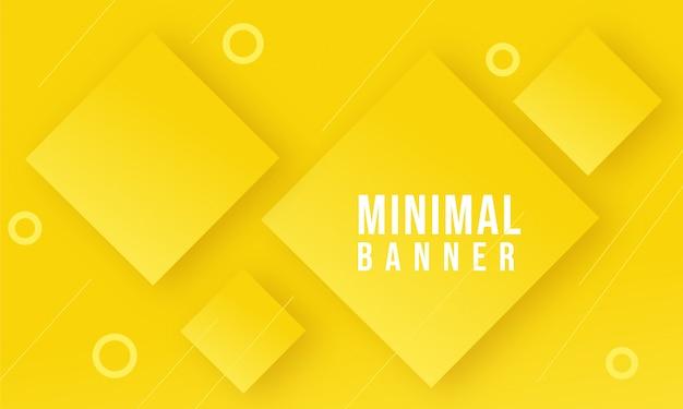 Projeto de fundo abstrato geométrico mínimo banner