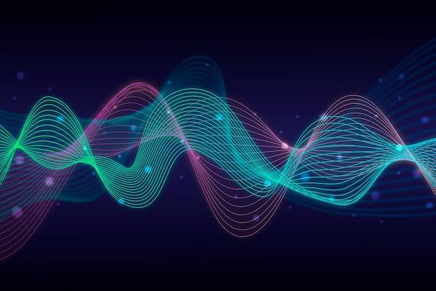 Projeto de fundo colorido onda equalizador