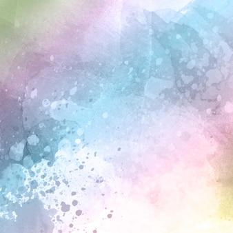 Projeto de fundo com textura aquarela em cores pastéis