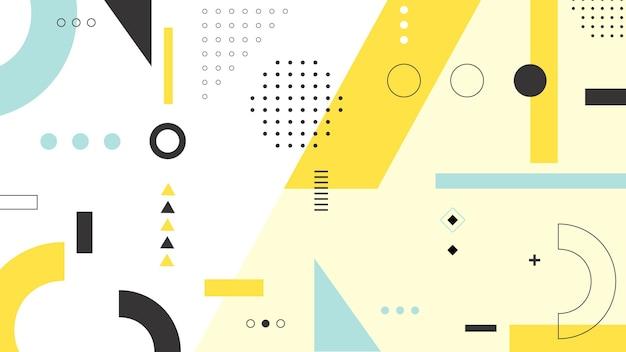 Projeto de fundo de formas geométricas