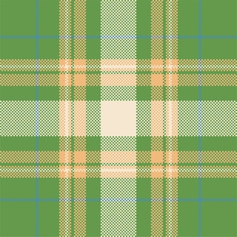 Projeto de fundo de pixel. xadrez moderno padrão sem emenda. tecido de textura quadrada. tartan escócia