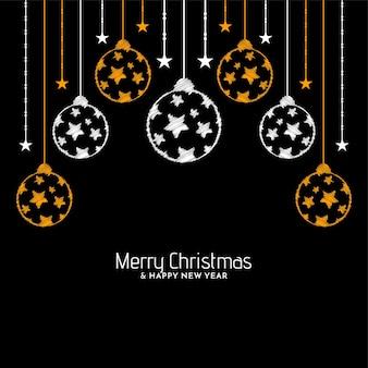Projeto de fundo de saudação de celebração de feliz natal