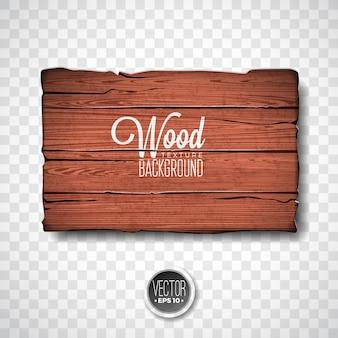 Projeto de fundo de textura de madeira do vetor. ilustração de madeira natural do vintage escuro com placa de estilo antigo no fundo da transparência