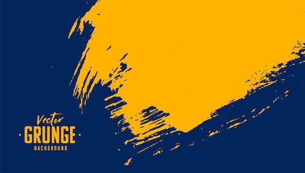 Projeto de fundo de textura grunge abstrato azul e amarelo