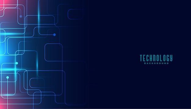 Projeto de fundo digital de linhas de circuito de tecnologia
