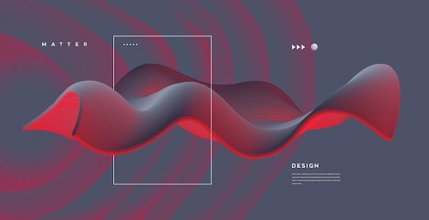 Projeto de fundo moderno com elemento conceitual