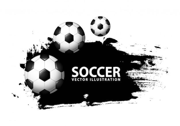 Projeto de futebol sobre ilustração vetorial de fundo branco