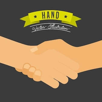 Projeto de gestos de mão, gráfico de vetor ilustração eps10