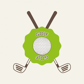 Projeto de golfe sobre ilustração vetorial de fundo branco