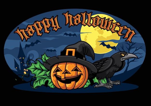 Projeto de halloween com abóbora de halloween