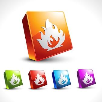 Projeto de ícone da chama