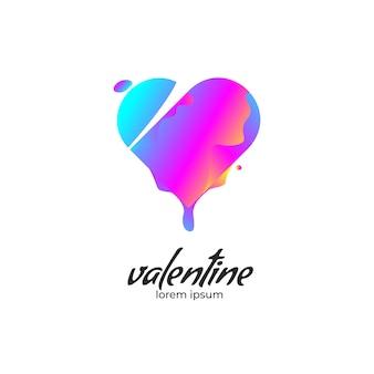 Projeto de ícone de forma de coração dia dos namorados