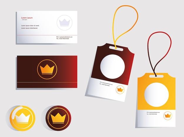 Projeto de identidade visual corporativa em ilustração de fundo branco