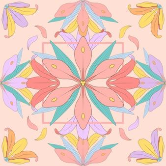 Projeto de ilustração de flores vintage