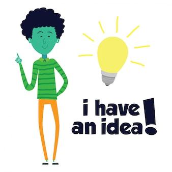 Projeto de ilustração de idéia.