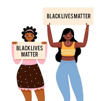 Projeto de ilustração de matéria de vidas negras